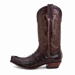 Bottes 10004 Cuervo Alligator cresta marron Unisexe