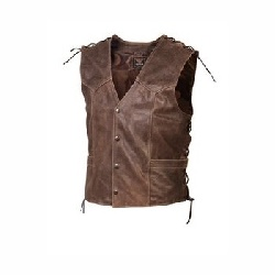 Gilet cuir Kosta brun antique