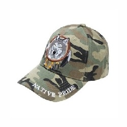 Casquette baseball Wolf Camouflage
