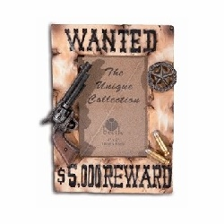 Cadre photo Pistolet Wanted