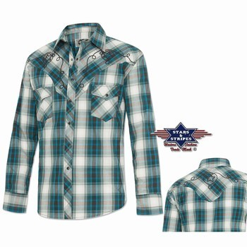 Chemise western homme Jeff Stars and Stripes Chemises Manches longues Homme st-jeff