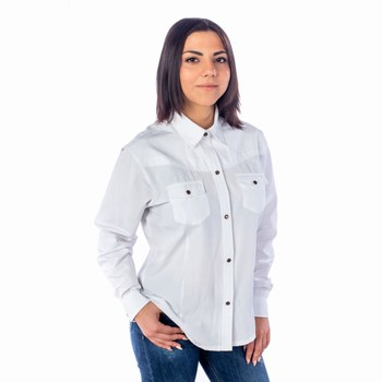 Chemise country blanche femme Last Rebels Chemises Manches longues Femme lb-2005