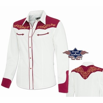 Chemise western femme Lucia Stars and Stripes Chemises Manches longues Femme st-Lucia