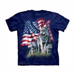 T-shirt Wolf flag MT1002