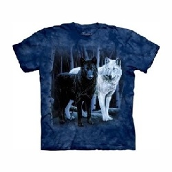 T-shirtblack and white wolves MT1106