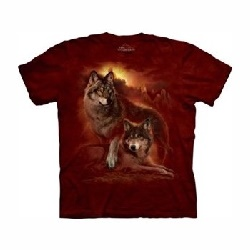 T-shirt wolf sunset  MT1851