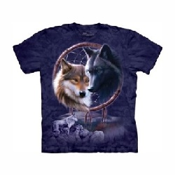 T-shirt wolves dreamcatcher MT3268