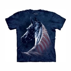 T-shirt patriotic horse head MT3381