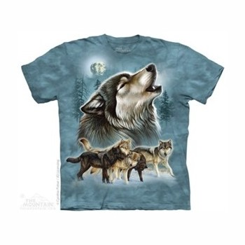 T-shirt old shool wolf collage MT3988 Tee Shirt, débardeurs The Mountains MT-3988