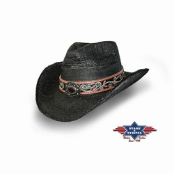 Chapeau country paille Brenda Stars and Stripes