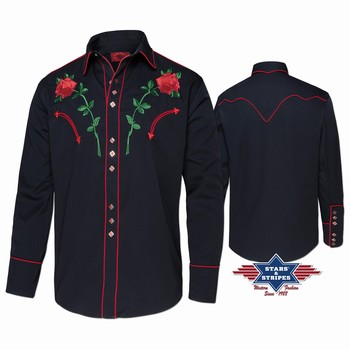 Chemise Midland Stars and Stripes Chemises Manches longues Homme st-midland