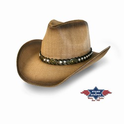 Chapeau country paille Monterry Stars and Stripes