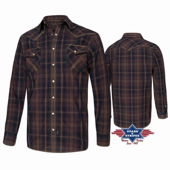 Chemise western homme Oliver Stars and Stripes Chemises Manches longues Homme st-Oliver