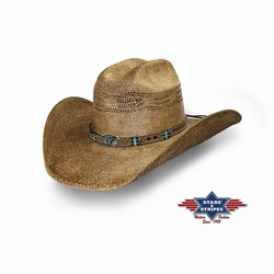 Chapeau country paille Pinedale Stars and Stripes